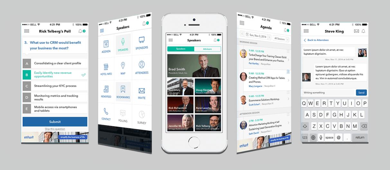 conference event management mobile application. Black Bedroom Furniture Sets. Home Design Ideas