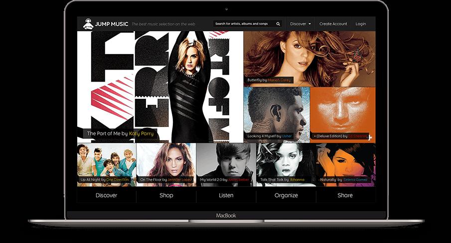 Jump Music Web Portal