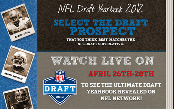 NFL Draft Yearbook Facebook Application