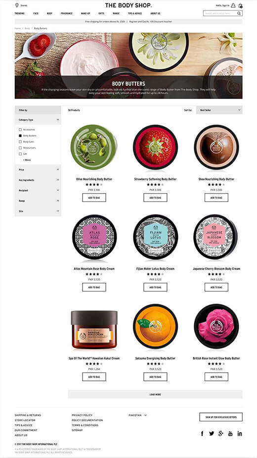 The Body Shop Ecommerce Portal   Case Study   Cygnis Media