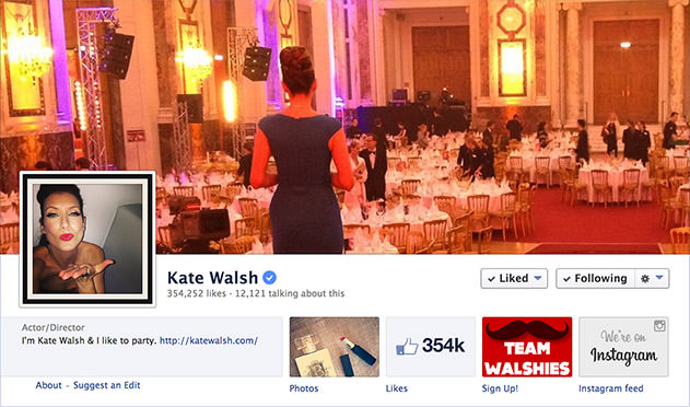 Kate Walsh Facebook Page