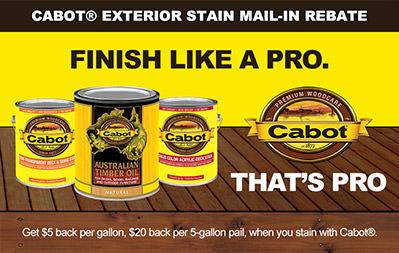 Cabot Rebate