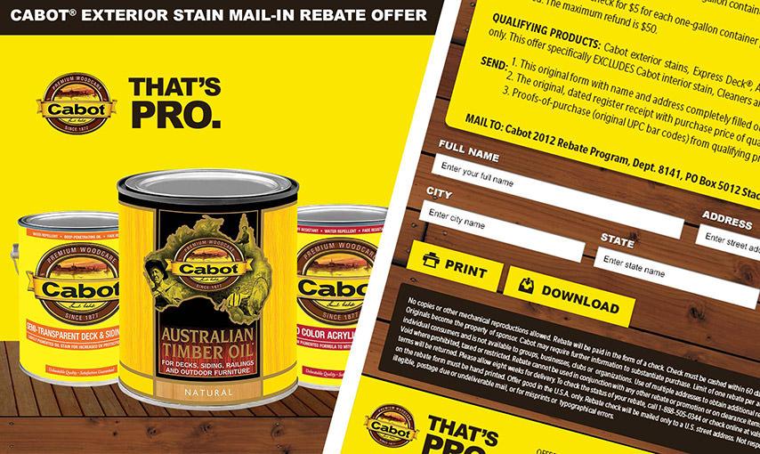 Cabot Rebate App