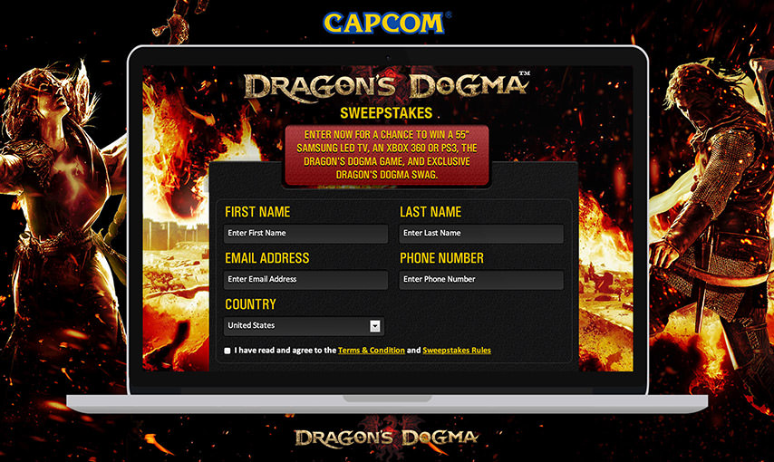 Dragons Dogma Sweepstakes