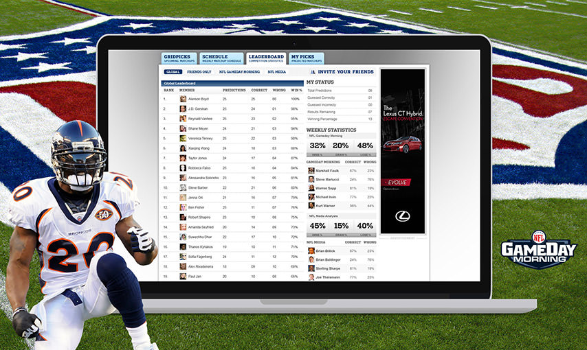 NFL Microsite
