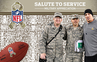 NFL Mosaic - Salute to Service