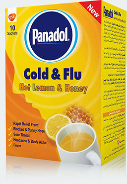 Panadol Cold and Flu Hot Lemon and Honey Sachet