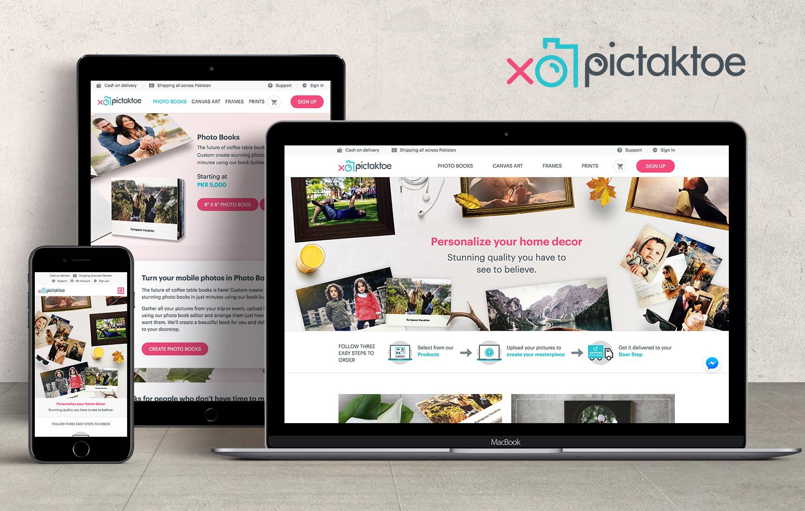 PicTakToe Ecommerce Platform