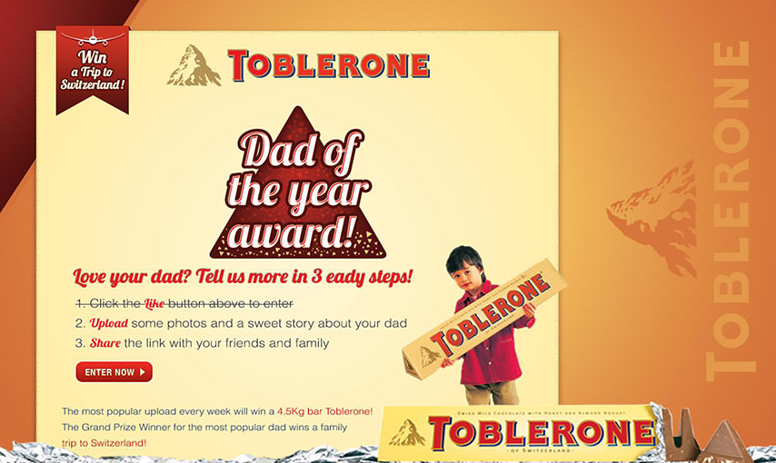 Toblerone Facebook App