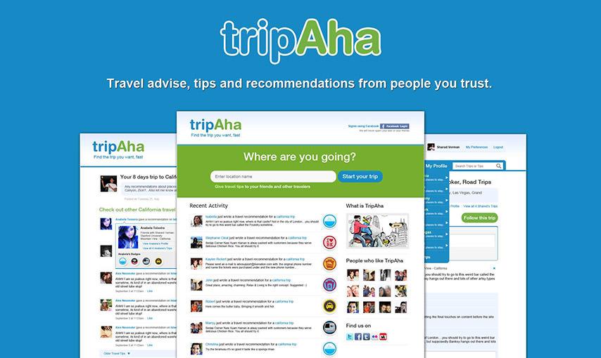 Tripaha web app