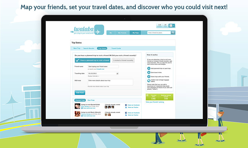 Travel web app