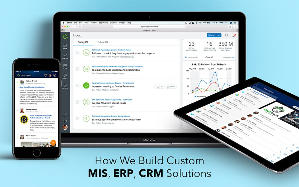 How we build custom MIS, ERP, CRM solutions