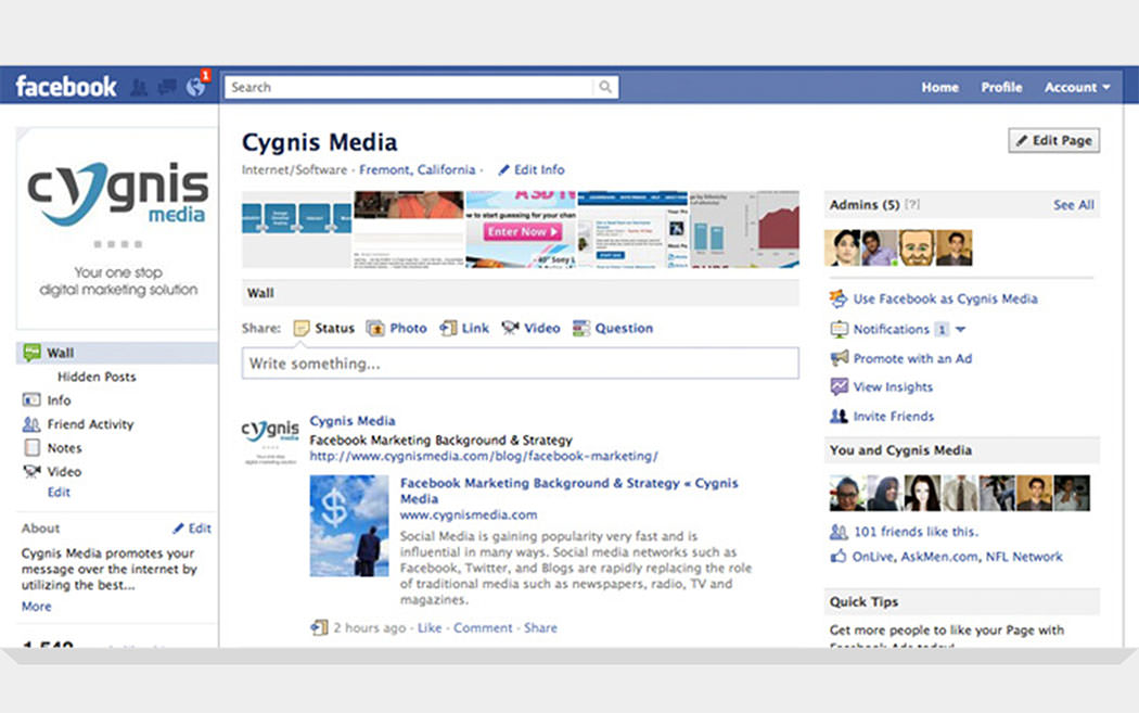 Facebook Updates: Facebook redesigned Businesses and Custom Pages
