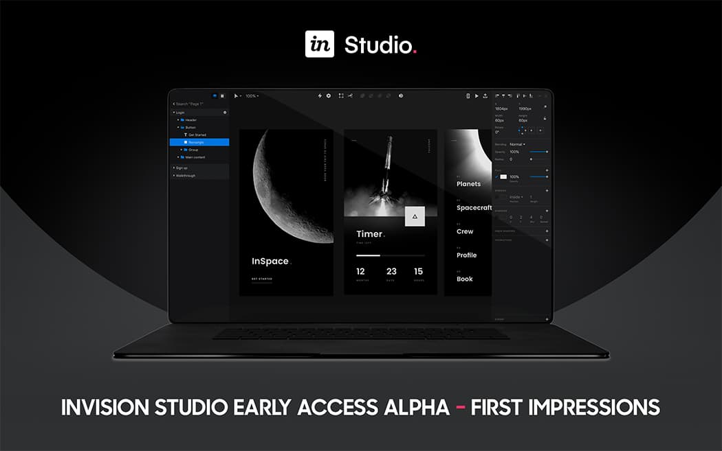 InVision Studio Early Access Alpha – First impressions