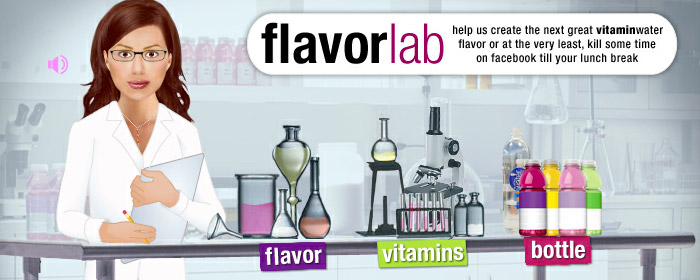Vitamin Water Flavor Lab Promotion Idea