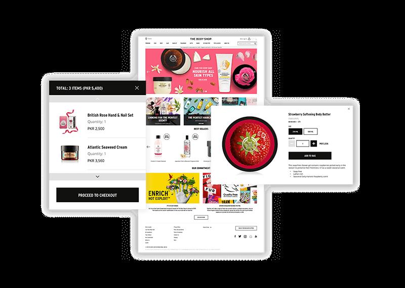 The Body Shop Ecommerce Portal