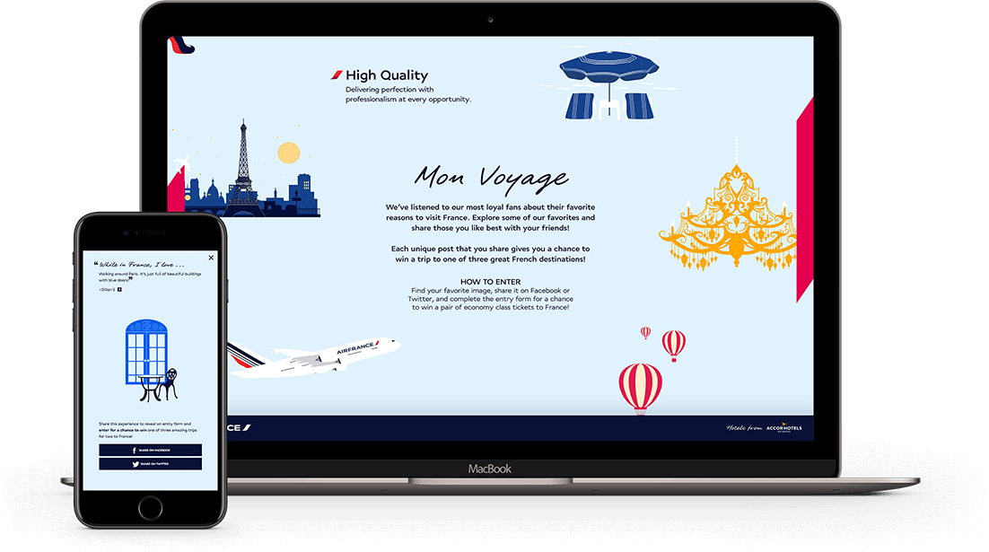 Air France Contest Website