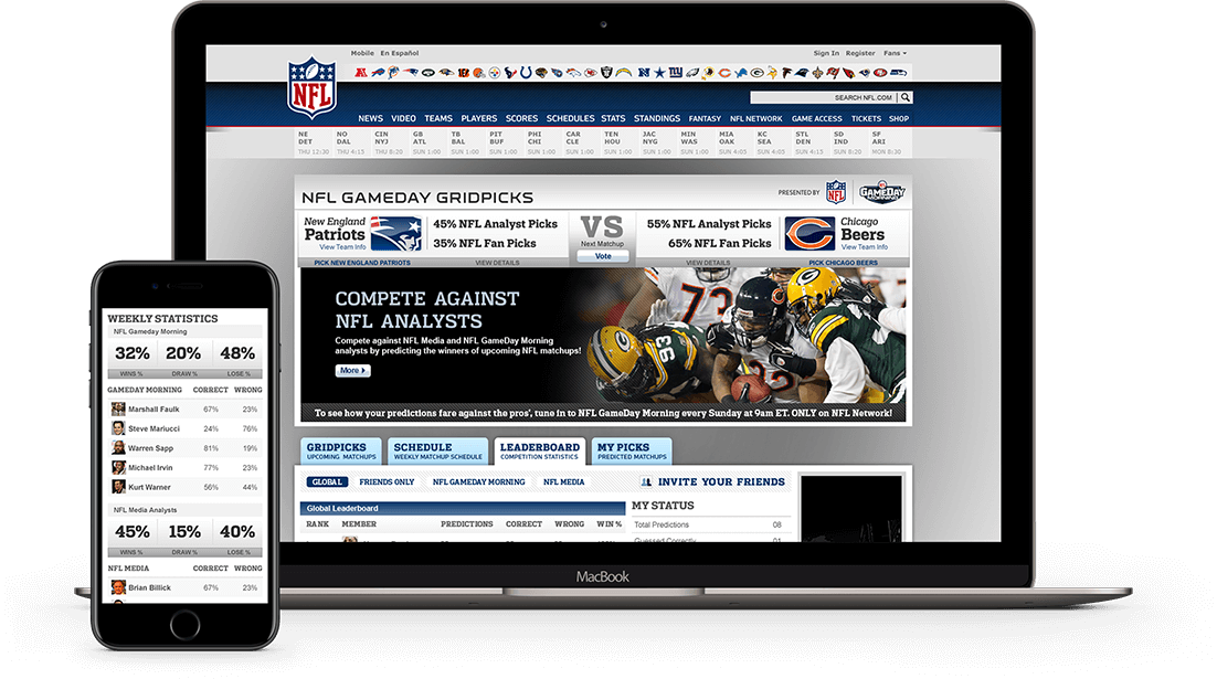 NFL Gameday Website