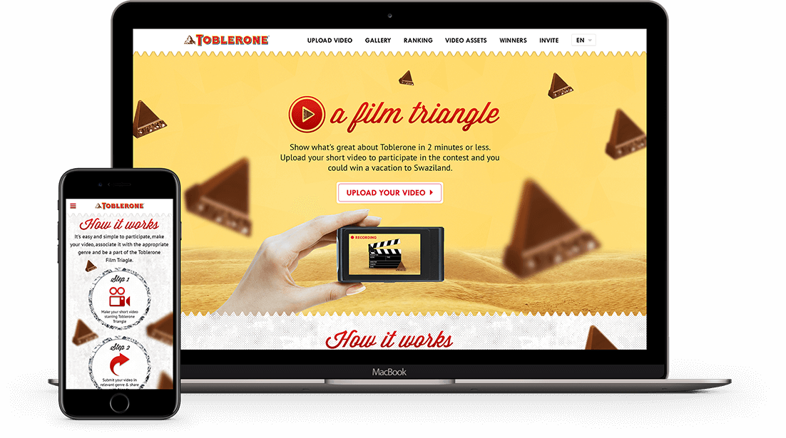 Toblerone Film Triangle Contest Website